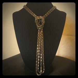 Gunmetal Knot style Necklace